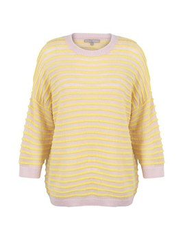 Authentic Stripe Yellow Jumper by Olivar Bonas