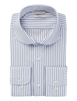 Navy Stripe Traveller Shirt by Suitsupply