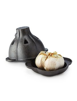 Cast Iron Garlic Roaster by Uncommon Goods
