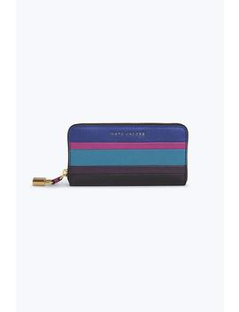 The Grind Colorblocked Standard Continental Wallet by Marc Jacobs