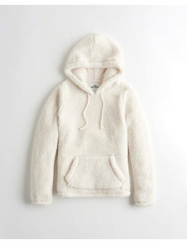 Oversized Sherpa Hoodie by Hollister