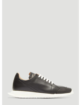 Oblique Leather Sneakers In Black by Rick Owens