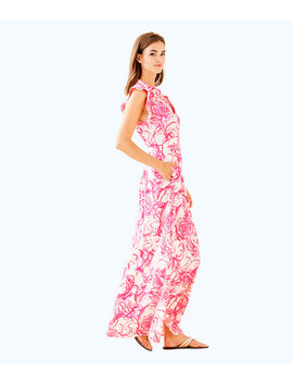 Goop X Lilly Pulitzer Palm Beach Silk Maxi Dress by Lilly Pulitzer