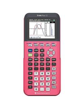 Texas Instruments Ti 84 Plus Ce Graphing Calculator, Count On Coral by Texas Instruments