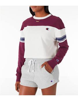 Women's Champion Long Sleeve Crop T Shirt by Champion
