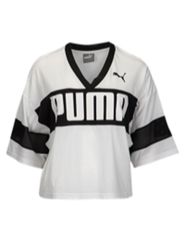 Puma Urban Sports Cropped T Shirt by Lady Foot Locker