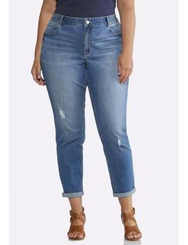 Plus Size Relaxed Girlfriend Ankle Jeans by Cato