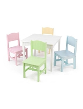 Kid Kraft Nantucket Table & 4 Pastel Chairs by Toys Rus