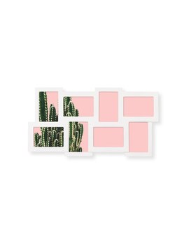 White Rubix 8 Picture Multi Wall Frame by Olivar Bonas