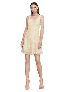 Alena Metallic Lace Dress by Bcbgmaxazria
