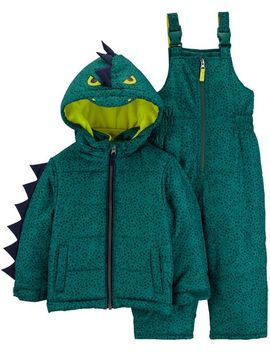 2 Piece Dinosaur Snowsuit Set by Carter's