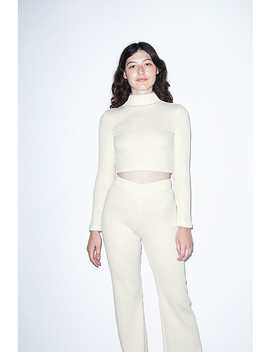 Thick Rib Long Sleeve Crop Turtleneck by American Apparel
