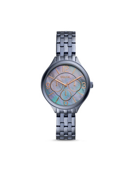 Suitor Multifunction Steel Blue Stainless Steel Watch by Fossil