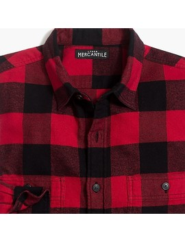 Slim Fit Flannel Shirt In Buffalo Check by J.Crew