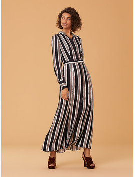 Long Sleeve Collared Flare Shirt Dress by Dvf