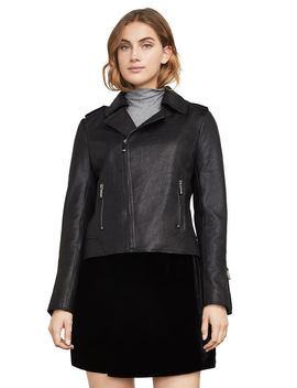 Chase Leather Moto Jacket by Bcbgmaxazria
