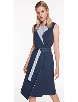 Linen Belted Dress by Cue