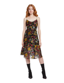Heather Cowl Neck Midi Dress by Alice And Olivia