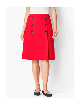 Twill A Line Skirt by Talbots