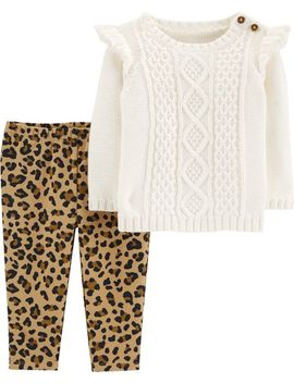 2 Piece Sweater & Cheetah Legging Set by Carter's
