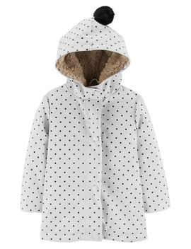 Polka Dot Sherpa Lined Rain Jacket by Carter's