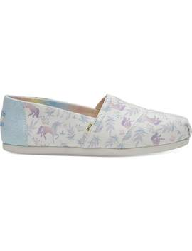 Rainbow Watercolor Unicorn Women's Classics by Toms