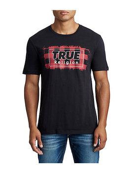 Mens Plaid Logo Graphic Tee by True Religion