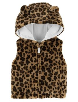 Faux Fur Cheetah Vest by Carter's