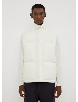 Padded Down Vest In White by Jil Sander