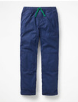 Lined Pull On Trousers by Boden