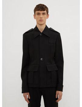 Safari Jacket In Black by Wales Bonner