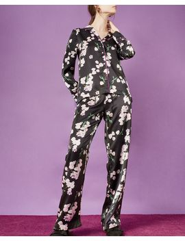 Ebony Tulip Pyjama Shirt by Violet & Wren