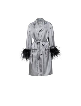 Silk Coat With Feathers by Prada