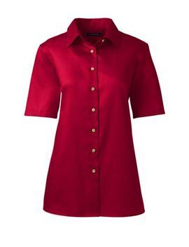 Women's Regular Short Sleeve Performance Twill Shirt by Lands' End
