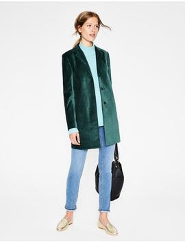 Blyford Velvet Coat by Boden