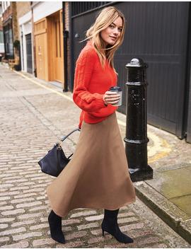 British Tweed Midi Skirt by Boden