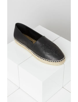 Leather Tiger Espadrilles by Kenzo