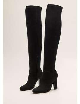 Μπότες-ψηλές-τακούνι by mango