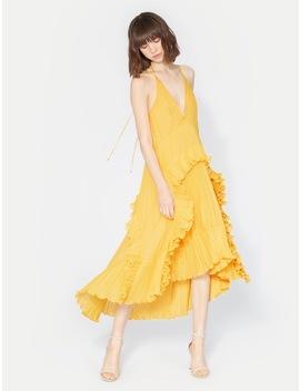 Halter Pleated Dress by Halston