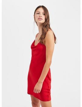 Red Cowl Neck Mini Slip Dress by Miss Selfridge