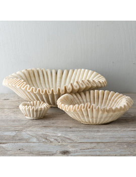 Ruffled Marble Bowl by Terrain