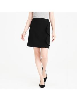 Ruffle Front Mini Skirt In Double Serge Wool by J.Crew