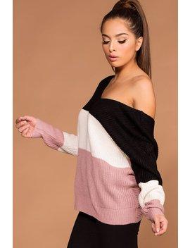 Whirlwind Twist Back Knit Sweater   Blush by Priceless