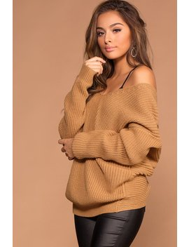 Twist And Shout Sweater   Camel by Priceless
