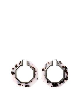 Octagon Resin Hoop Earrings by Rebecca Minkoff