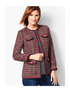 Gold Button Tweed Jacket by Talbots
