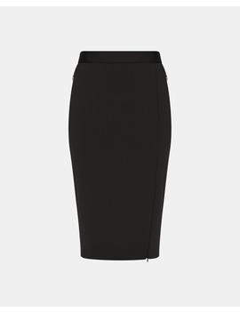 Zip Front Pencil Skirt by Theory