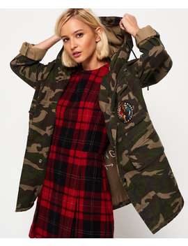 Rookie Oversized Parka Jacket by Superdry
