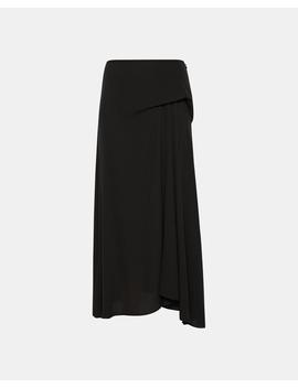 Silk Side Draped Midi Skirt by Theory