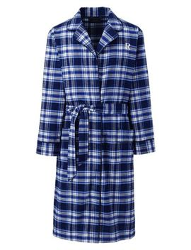 Men's Flannel Robe by Lands' End